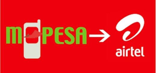 Airtel airtime from M-pesa