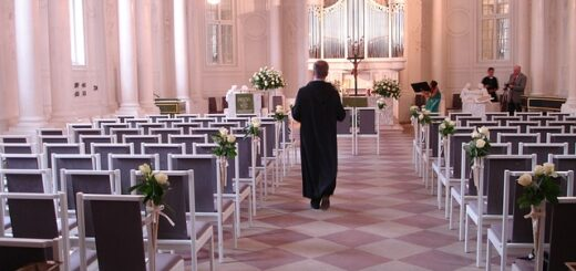 Pastor in a church