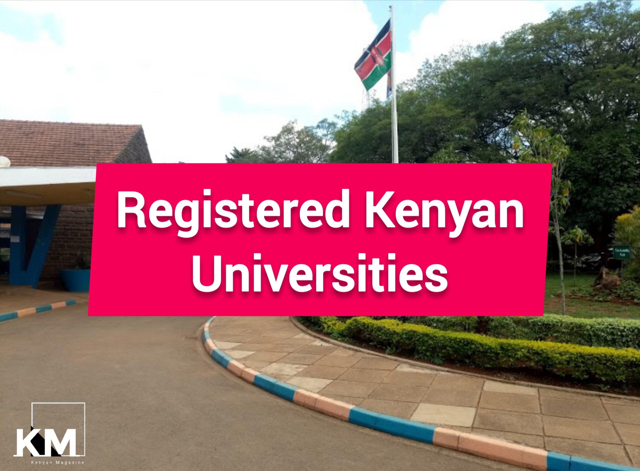 Registered Kenyan Universities