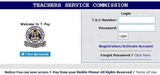 TSC Number Registration