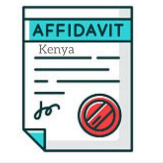 Kenyan Affidavit