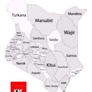 Kenyan Counties Map