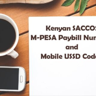 Kenyan SACCOS Paybill Numbers and USSD Codes